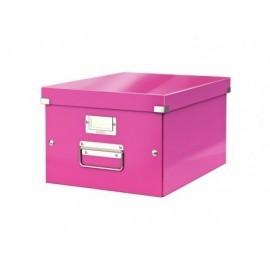 LEITZ Caja almacenamiento Click&Store 281X200X369 Fucsia Fibra de carton 60440023