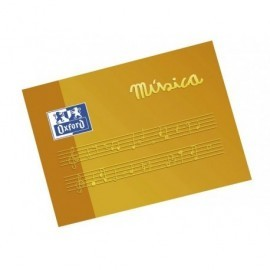 OXFORD Bloc Musica A5 Apaisado 10 hojas 4 mm pentagrama 100104854