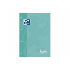 OXFORD Recambio Color 80 Hojas A4 Cuadricula 5X5 Verde 400041235