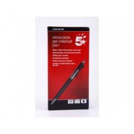 5* Roller Negro Trazo 0,5 mm Tinta gel  ROLLER GEL RETRACTIL COLOR NEGRO REF.961028 961028