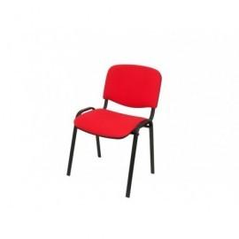 5* Silla confidente Oslo tapizada en tela color rojo, apilable, dimensiones 80 x 53,5 x 41 cm 26ARAN350