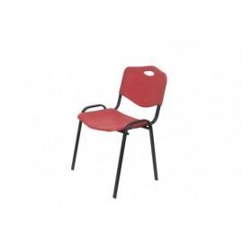 5* Silla confidente Riga en PVC rojo, apilable, dimensiones 80 x 53,5 x 41 cm 26IRJ