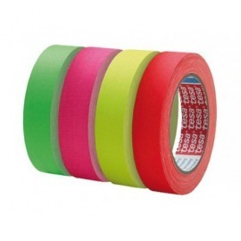 TESA Cinta adhesiva de tejido amarillo fluorescente. 25mx25mm. 04671-00054-10