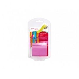 PERGAMY Rollo notas adhesivas 10Mx50MM rosa neón 900909