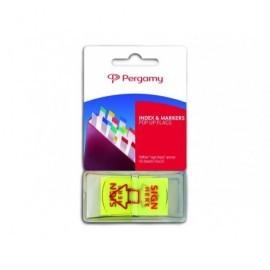 PERGAMY Dispensador 50 index flexa señal 45x25 amarillo 900917