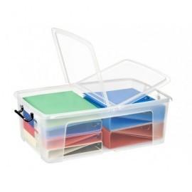 CEP Caja almacenamiento Transparente Abre y cierra dos lados con clips Apilable 2006750110