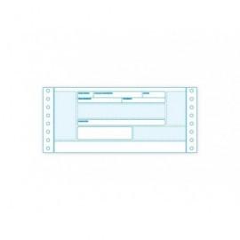 FABRISA Formulario papel continuo Caja 2500 h. 90 g. 240mm.x4'' Recibo negociable 16207