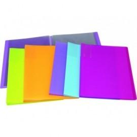5* Carpetas fundas 20 fundas Colores surtidos Polipropileno UNP001