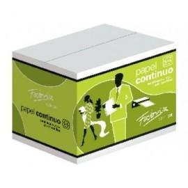 FABRISA Papel Continuo Caja 2500 Hojas 380x11 Pulgadas Blanco 15381