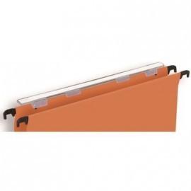 PERGAMY Paquete de 25 visores 138x27mm para carpeta colgante 400063717