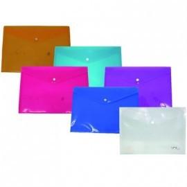 Sobre polipropileno 335x235 con broche colores surtidos 312147