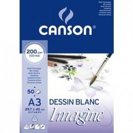 CANSON BLOC IMAGINE 50 HOJAS 200G. A3 200006007