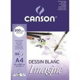 CANSON BLOC IMAGINE 50 HOJAS 200G. A4 200006008