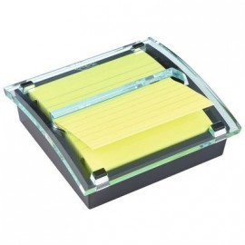 POST-IT DISPENSADOR ZNOTES 101X101 MILLENIUM NEGRO + 1 BLOC ZNOTES AMARILLO CANARIO HK100010444