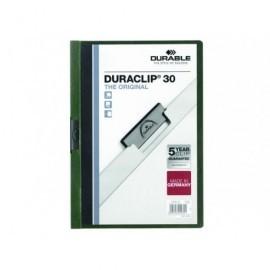 DURABLE Dossiers clip Duraclip Capacidad 30 hojas A4 Verde PVC   2200-32