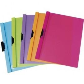 5* Dossiers clip Capacidad 30 hojas A4 Colores surtidos Polipropileno 427748