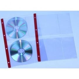 IBERPLAS funda para CD/DVD 4 CDs por funda y con 4 taladros en formato A4 4754CDR