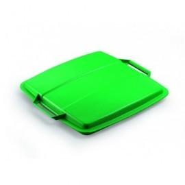 DURABLE Tapas contenedores Durabin 90L 45x555x525mm Verde Para Durabin 90L 1800475020