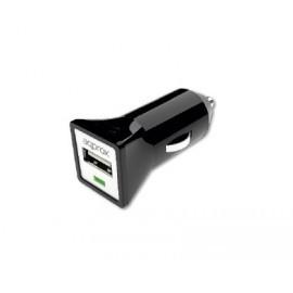 Cargador USB para Coche (Negro) APPROX