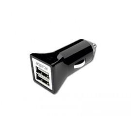 Cargador Doble USB para Coche (Negro) APPROX