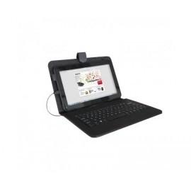 """Funda Universal para tablet 9"""" con teclado(NEGRO) APPROX"""