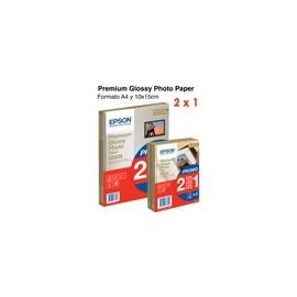 Epson Papel Premium Glossy Photo 255 gr, A4, 15h. Promoción 2x1