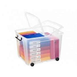 CEP Cajas almacenamiento 75 L Transparente Ruedas 2006760110