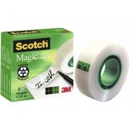 SCOTCH Cinta adhesiva Invisible 810 Repara documentos 8u  19 x 33 mm No amarillea XA004839487