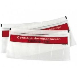 Caja 250 sobres docufix225x115 Transparente 000603