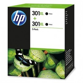 HP Envy 5530, Deskjet 1010 Cartucho NEGRO nº301XL  PACK 2