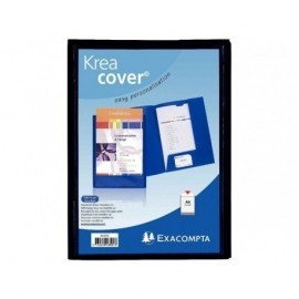 EXACOMPTA Dossier de presentacion A4 Cartoncillo Con fastener con lomo Negro 43501E