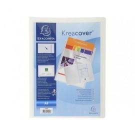 EXACOMPTA Dossier de presentacion A4 p.p. rígidopermite colocar tarjeta visita, Blanco 43008E