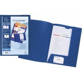 EXACOMPTA Dossier de presentacion A4 Cartoncillo Con fastener con lomo Azul 43502E
