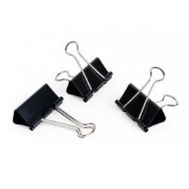 5* Pinzas Clip Caja 12 U 41 mm  Negro 296883