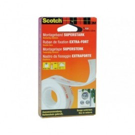 SCOTCH CINTADE MONTAJE EXTREMEDE DOBLE CARA 19MM x1,5MSUPERFICIE LISA O RUGOSA 70006902749