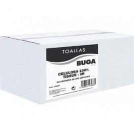 BUNZL Toallas secamanosV Pack 20 ud 23x20cm 2 capas 15830