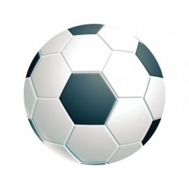 FELLOWES Alfombrilla para ratón circular rígida fútbol 5880904