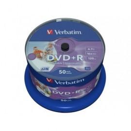 VERBATIM DVD+R AZO Wide bobina pack 50 ud 16x 4,7GB 120min imprimible 43512