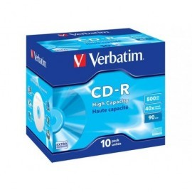 VERBATIM CD-R High Capacity pack caja 10 ud 40x 800MB 90min 43428