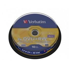 VERBATIM DVD+RW Advanced SERL bobina pack 10 ud 4x 4,7GB 120 min 43488