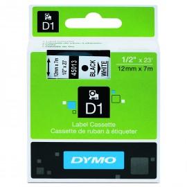 DYMO Etiquetas Dymo D1 12 mm Adhesivo permanente Negro/transparente S0720500