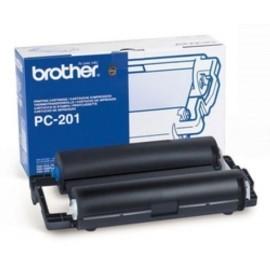 CONS TTR BROTHER PC201 FAX 1020 1030 CARTUCHO Y BOBINA 420 PAG