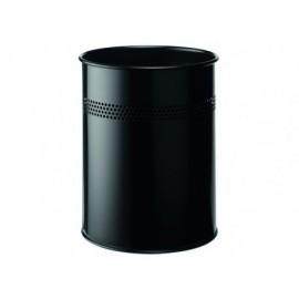 DURABLE Papelera Metálica 15L Negro 3300-01