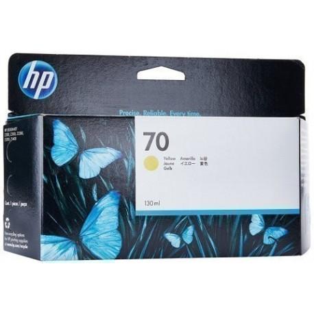 CARTUCHO INKJET HP C9454A N 70 DESIGNJET Z2100 Z3100 AMARILLO 130ML