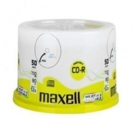 CD ROM MAXELL 700 MB 80 min 52x PRINTABLE TARRO DE 50 Incluye Canon LPI de 4 00