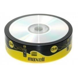 CD ROM MAXELL 700 MB 80 min 52x TARRO DE 25 Incluye Canon LPI de 2 00