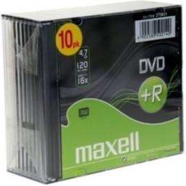 DVD R MAXELL 4 7GB 16x SLIM CASE PACK 10 Incluye Canon LPI de 2 10