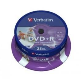 DVD R VERBATIM 4 7GB 16x SPINDLE 25 ADVANCED AZO Incluye Canon LPI de 5 25