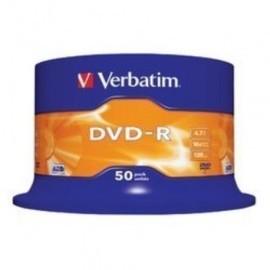 DVD R VERBATIM 4 7GB 16x SPINDLE 50 Incluye Canon LPI de 10 50