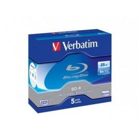 VERBATIM BLUE-RAY DISC Single Layer pack caja 5 ud 6x 25GB 43715